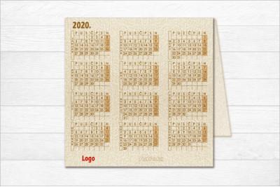 Čestitka-kalendar 2020CK 07